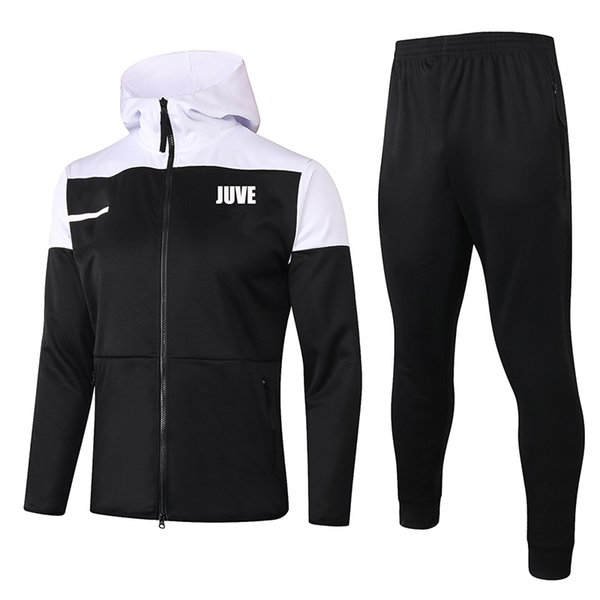 JUVE Black 2021 Hoodies Jacket
