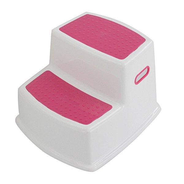 top popular New 2 Step Stool for Kids Toddler Stool for Toilet Potty Training Slip Bathroom Kitchen LJ201110 2021