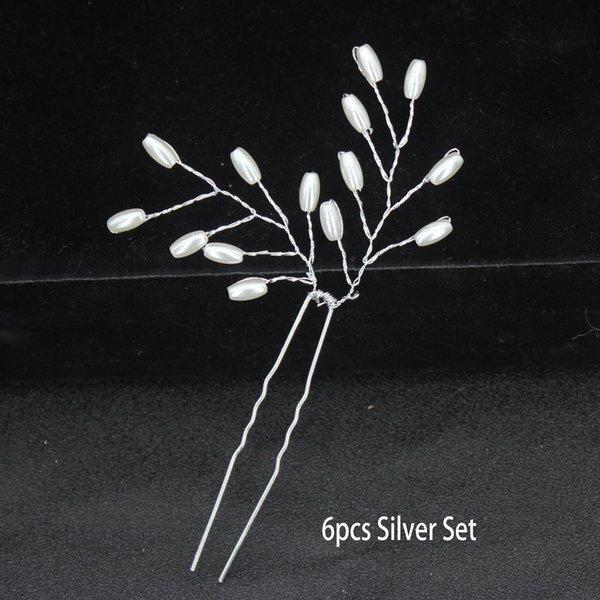 6pc pérola prata