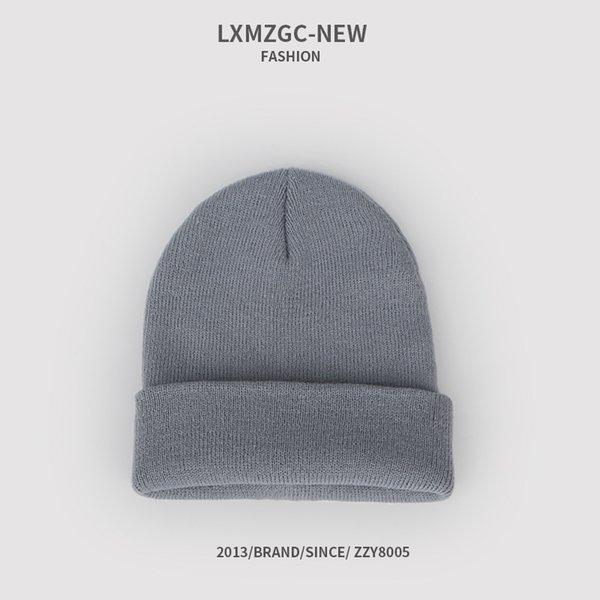 Sombrero de punto fluorescente - gris