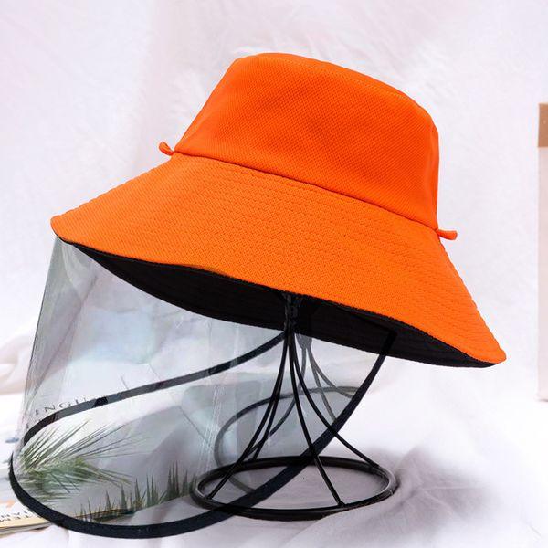 Orange Black Double sided Strap Detachable Anti Droplet Mask