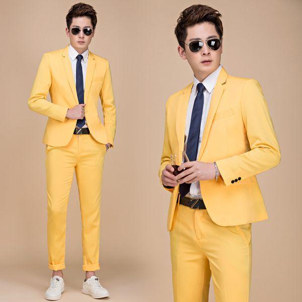 Pantalones de chaqueta amarilla
