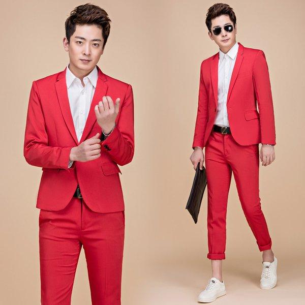 Pantalones de chaqueta roja