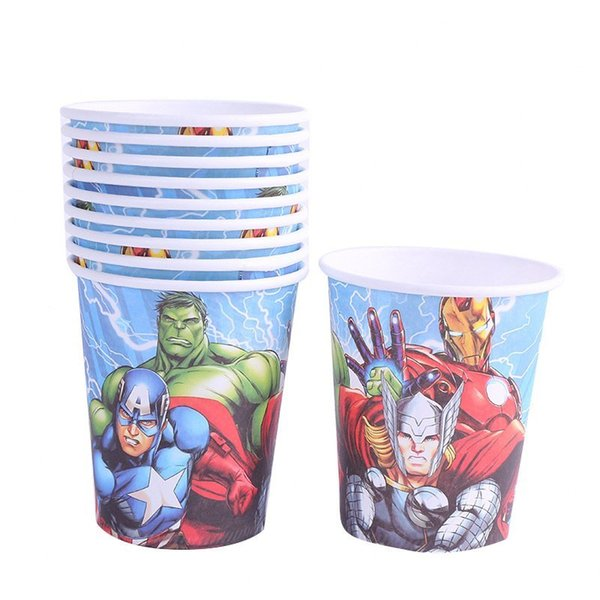 top popular Paper 10pcs Theme 7.5cm*8.5cm*5cm Cups The Disposable For Kids Boy Girl Birthday Party supplies ng5X# 2021