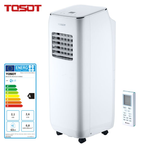 top popular TOSOT Portable Air Conditioner 3 in 1 Cooling Dehumidifier Fan Remote Control Timer, for Basement School Office Bedroom Living RoomSilver 2020
