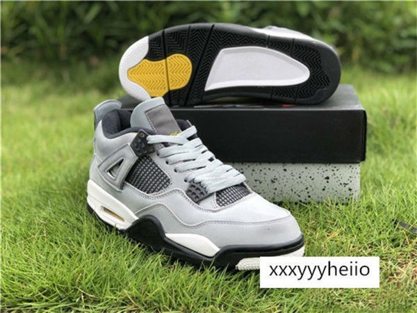 top popular Wholesale Release 4 iv Cool Grey WHITE LOW men basketball shoes trainers sports low sneakers outdoor 2021