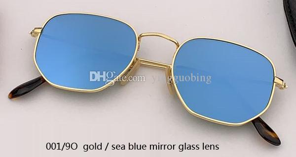 001/9O gold/sea blue mirror lens