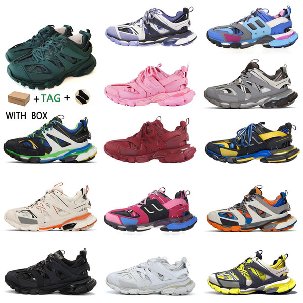 top popular 2020 New Cheap Paris 3.0 Track s Triple s Clunky Sneakers Grey Beige Orange Blue Update Version Designer Sport Sneaker Size 36-45 z8Zn# 2021