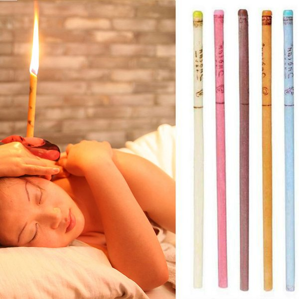 top popular Indian Therapy Ear Candle Natural Aromatherapy Bee Wax Auricular Therapy Ear Candle Coning Brain Ear Care Candle Sticks 2021