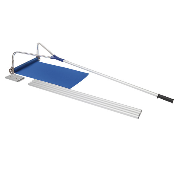 top popular Snow Rake, Deluxe Snow Roof Rake with Wheels, 5-20 Foot Length for Roof Snow Removal Oxford Shovel 2021