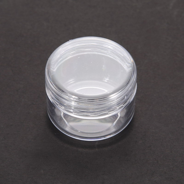 top popular 1pc Clear Plastic Cosmetic Sample Container 5G Jar Pot Small Empty Camping Travel Eyeshadow Face Cream Lip Balm 5ML Bottle 2021