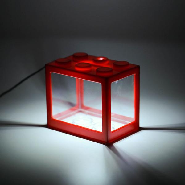 Kırmızı kavanoz-beyaz ışık usb # 34339