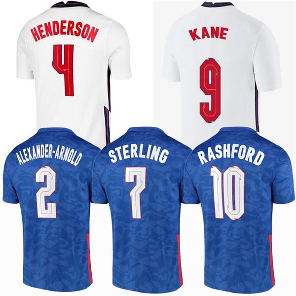 top popular Men + kids kits SANCHO RASHFORD soccer jersey ENGLAND 2020 2021 STERLING KANE 20 21 football men women kids shirts kit jerseys uniform 4XL 2021