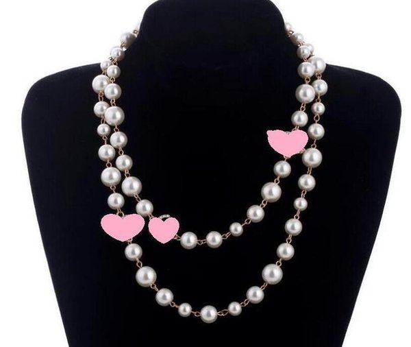 best selling Designer Long Sweater Chain Collar Maxi Necklace Simulated Pearl Flowers Necklace Women Fashion Jewelry Bijoux Femme Christmas Gifts
