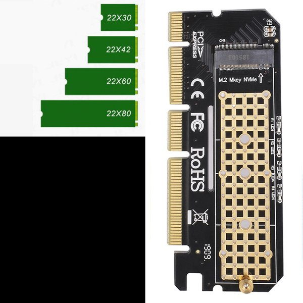 best selling New arrival aluminium alloy shell Led Expansion Card Computer Adapter Interface M.2 NVMe SSD To PCIE 3.0 X16