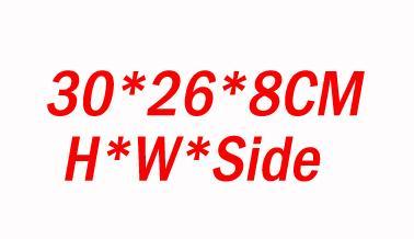حقائب 30x26x8cm-عادي الأسود