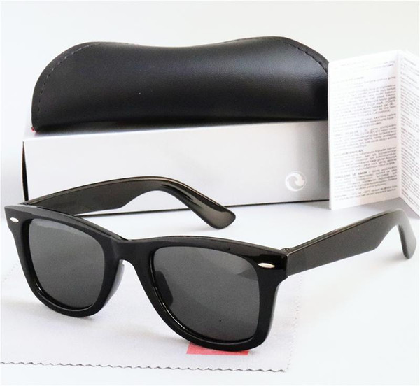 best selling High Quality New Polarized Lens Sunglasses Vintage Pilot UV400 Protection Men Women Sun Glasses Fashion Trend Eyeglasses With Case Box 2140