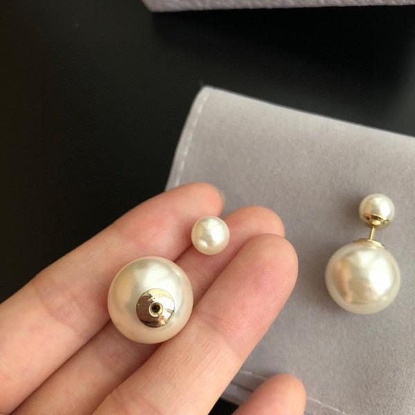 top popular High Quality Pearl Earrings Fashion Earrings Simple Size Pearl Earrings for Woman New Design Jewelry Supply 2021