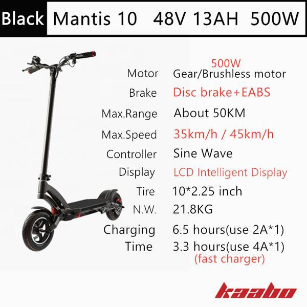 M10 48V 500W Black
