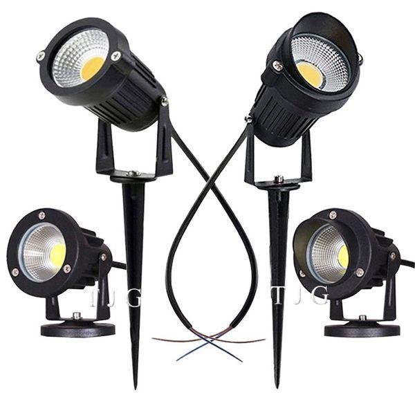 top popular LED COB Garden lighting 3W 5W 10W Outdoor Spike Lawn Lamp Waterproof Lighting Led Light Garden Path Spotlights AC110V 220V DC12V C1004 2021