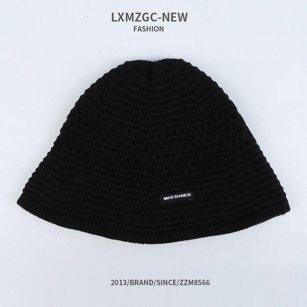 Мисс Ткань этикетка бассейна вязаная шляпа - черный