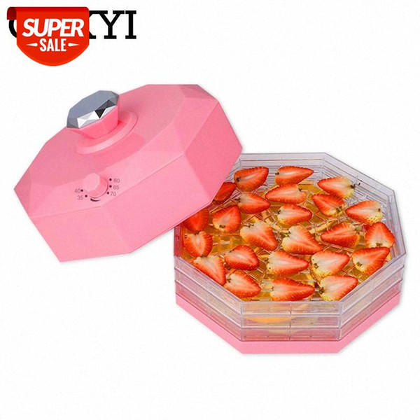 top popular CUKYI Household Food dehydrators with five layers for fruit vegetable herb pet snack meat Food Grade AS Plastic 5 trays 220V EU #2j5j 2021