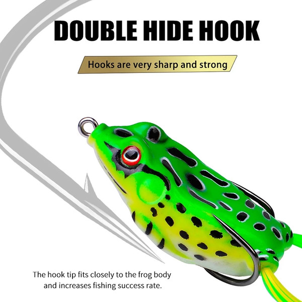 best selling 13g 6cm New Arrive Fishing Frog Lures Lifelike Soft Small Jump Frog Engaging Bait Silicone Bait for Crap Fishing Gear Crankbait Crankbaits