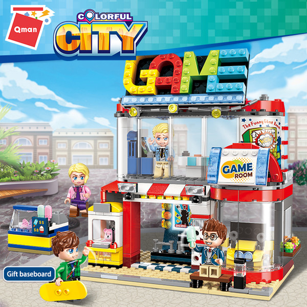 top popular Qman 1135 Mini Technic Taxes Cool Platage City House of Construction Groups 2021