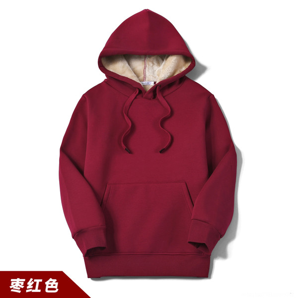 Wy202 Cashmere Hooded Red Sweater