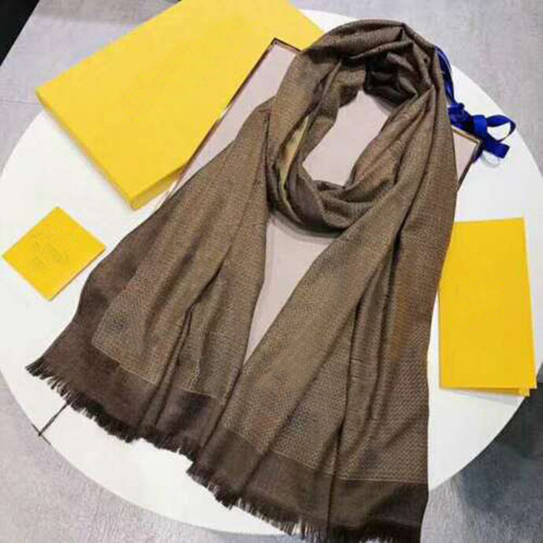top popular 4 seasons silk scarf Pashmina scarf leaf clover fashion woman shawl scarf size about 180x70cm 7 colors, free shipping 2021