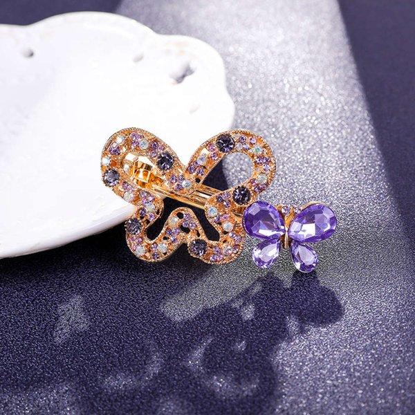 蝴蝶 发夹 6 公分 紫罗兰