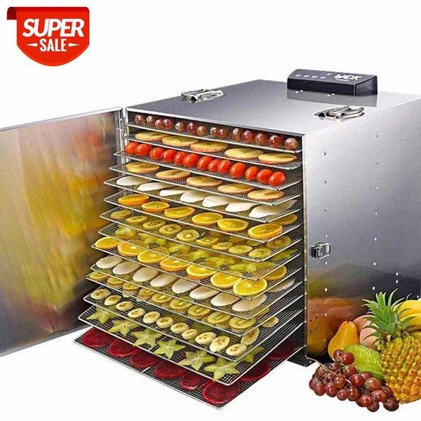 best selling 30 Layer Commercial Professional Fruit Food Dryer Stainless Steel Food Fruit Vegetable Pet Meat Air Dryer Electric Dehydrator #JH2J