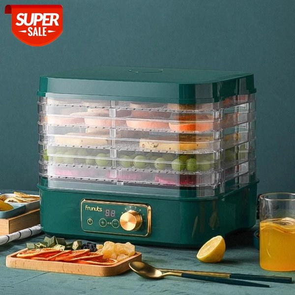 best selling Dried Fruit Vegetables Herb Meat Machine Household MINI Food Dehydrator Pet Meat Dehydrated 5 trays Snacks Air Dryer EU US #Bd6p