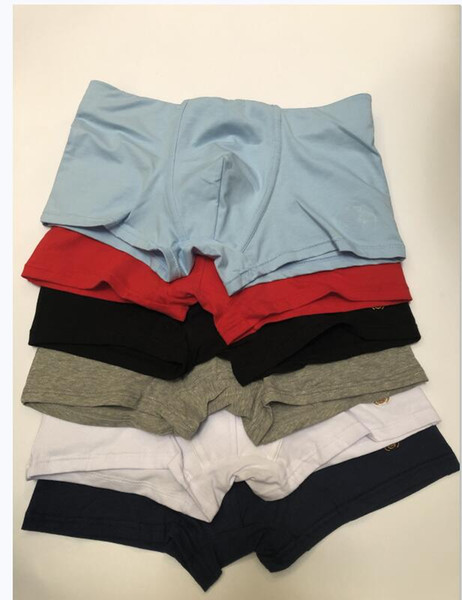 best selling 6 pecs lot 2020 Mens Designer Boxers Brands Underpants Sexy Classic Mens Boxer Casual Shorts Underwear Breathable Cotton Underwears