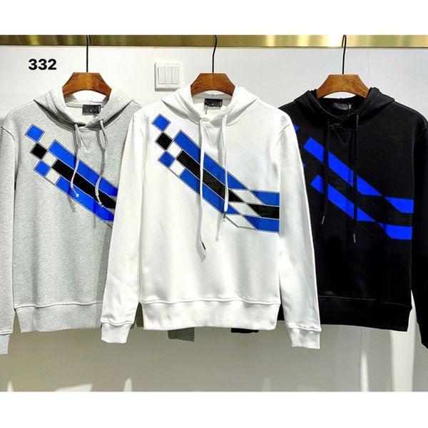 best selling Sweatshirt Men Street dance Skateboard Cotton classic embroidery Round neck Plus velvet fashion Have hat new styleO62An