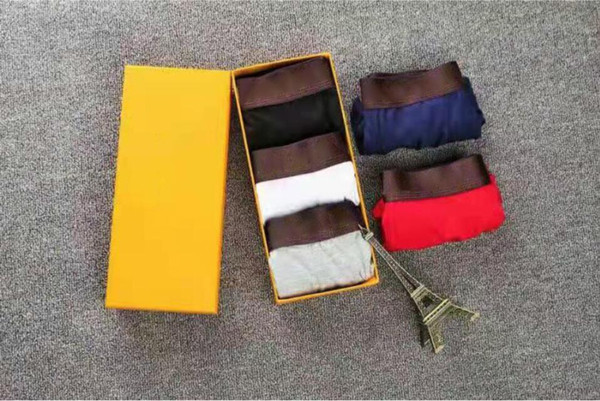 top popular New 2021 3pcs  box of men's underwear cotton men's shorts Sexy men's underwear 100% cotton underwear soft and comfortable free of freight 2021
