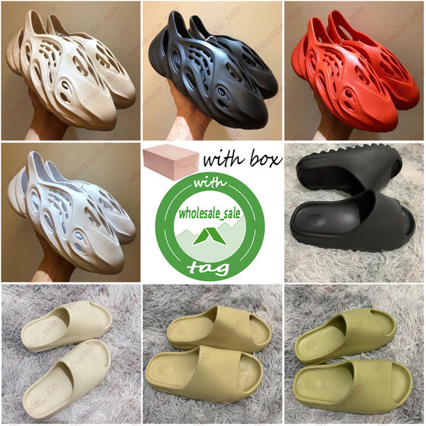 best selling Cheap Foam runner kanye west clog sandal triple black white fashion slipper women mens tainers beach sandals slip-on shoes