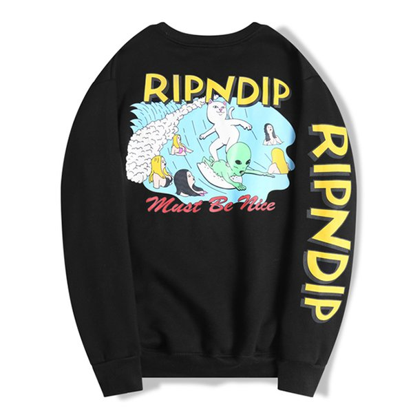 best selling 2020 RIPDIP SweatshirtS Hoodies Sweatshirts mens Couple men Top Solid Color Coats Hooded Sweater Jacket Fashion Hip Hop womens Long sleeve