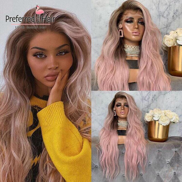 Ombre perruque rose