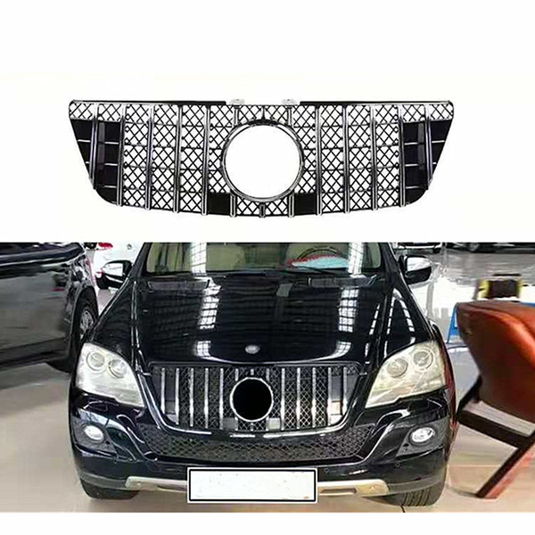 best selling For m-ercedes ML Class W164 x164 Kidney Mesh Grilles 2005-11 ML300 ML320 ML350 ML400 ML500 ML430 Car Grille