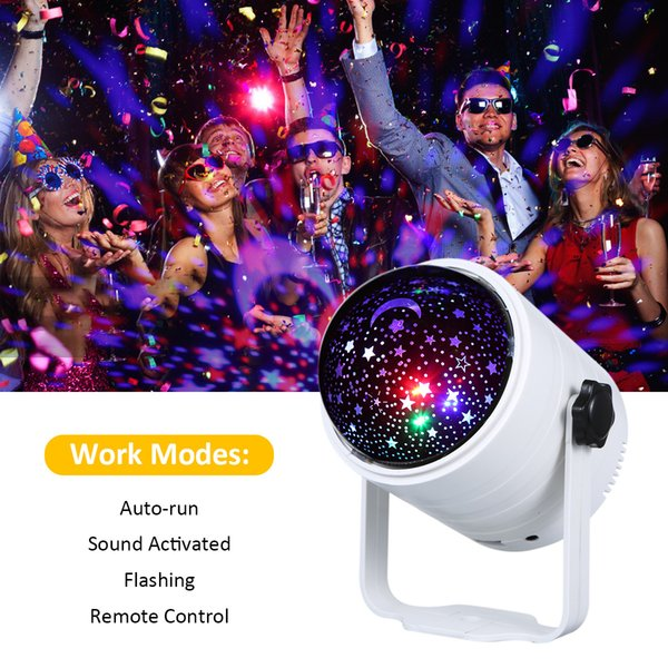 top popular 2021 New 6 Colors Usb Disco Ball Remote Control Party Lights Bt Music Speaker Sound Activated Strobe Light Leds Stage for Kid 2gfm 2021