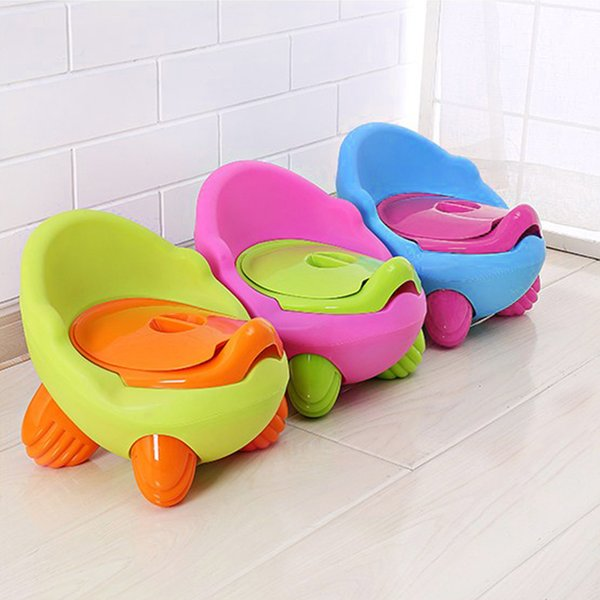 best selling Baby Portable Child Toilet Cartoon Travel Seat Kids Training Potty Chair Cute Plastic Urinal Potty Colorful Pot For Children LJ201110