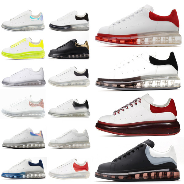 best selling Hot Leather Sneakers oversiezd espadrilles Men Women cushioned espadrille flat White black Platform Cushion Sole flats Casual Shoes