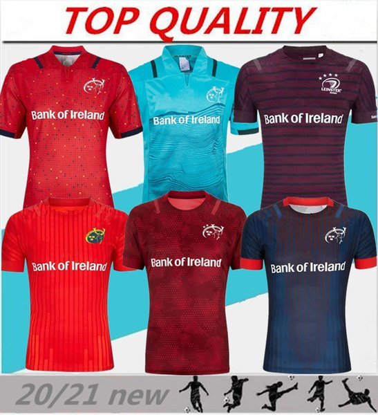 best selling top quality 2020 2021 Munster city Rugby jerseys 19 20 21 MUNSTER city home away men Rugby-Trikots size S-3XL