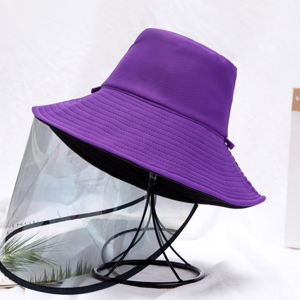 Purple Black Double sided Strap Detachable Anti Droplet Mask
