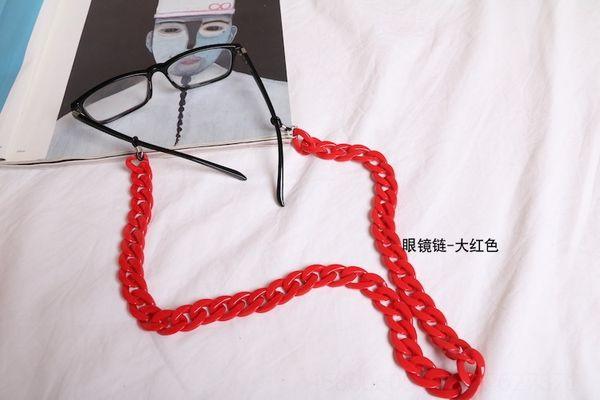 Corrente de óculos - vermelho