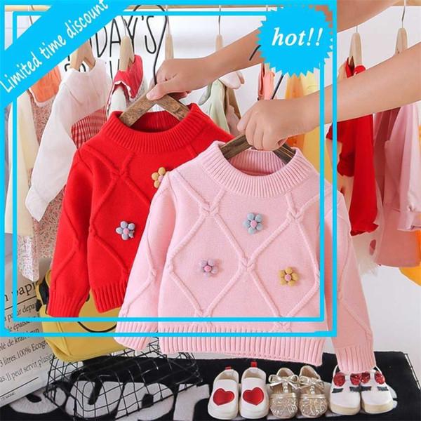 top popular 2020 Outfits Herfst Winter Girls Princess Kids Pumpkins Baby Blossom Trui Truies Outrunner Tops S11525 2021