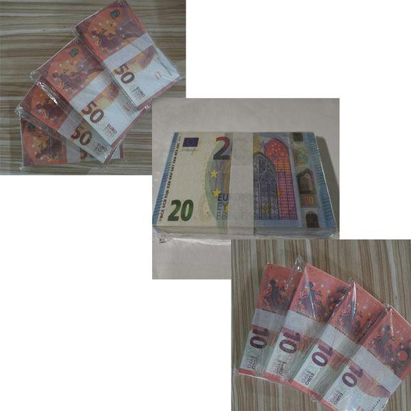 Estilo mixto: 10 €, 20 €, 50 €.