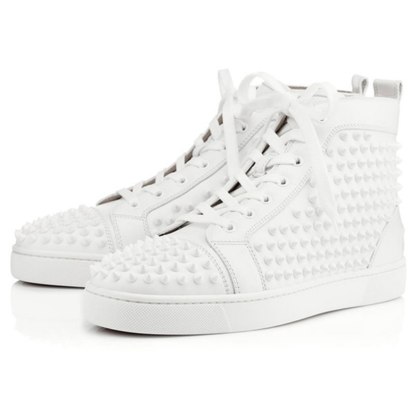 white leather Spikes