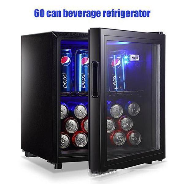 top popular Portable Freezers Compact Refrigerator Wine Fridgee 100 Can Capacity Beverage Refrigerator Household Appliances C0105 US STOCK 2020